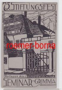 81903 Künstler Ak 75. Stiftungsfest Seminar Grimma 1913