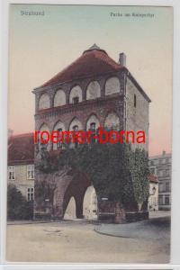 73279 Ak Stralsund Partie am Kniepertor 1909