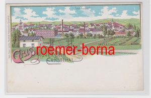 81339 Ak Lithografie Gruss aus Hohenstein-Ernstthal Total-Ansicht um 1900