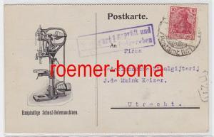 84246 Postkarte der Firma L. Burkhardt & Weber Maschinenfabrik Reutlingen 1916