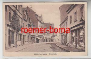 41072 Ak Borna Bez. Leipzig Reichsstraße mit Geschäften um 1920