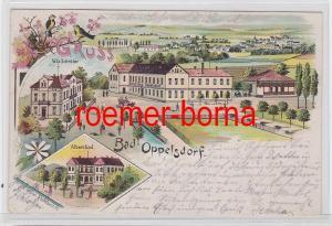 81351 Ak Lithografie Bad Oppelsdorf Opolno-Zdrój Hotel 1903