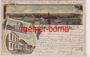 81353 Mehrbild Ak Gruss aus Goeritz a.d. Oder Totale, Bahnhof, Gasthof 1899
