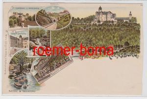 81988 Ak Lithografie Gruss v. Rochsburg um 1900