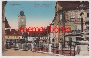 82978 Feldpost Ak Nagyszeben Ungarn Kleiner Ring mit Ratturm 1917