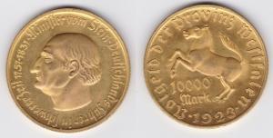 10000 Mark Notgeld der Provinz Westfalen 1923 Jäger N 20a  (124047)