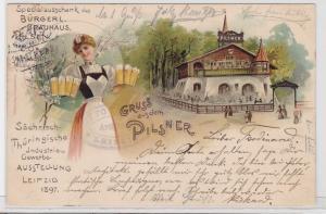 85622 Lithografie AK Sächsisch-Thüringische Industrie & Gewerbe Ausstellung 1897