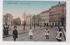 92250 Patent Ak Leipzig Lindenau Lindenauer Markt um 1910
