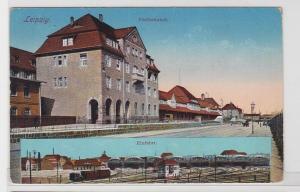 82290 Mehrbild Ak Leipzig Postbahnhof 1915