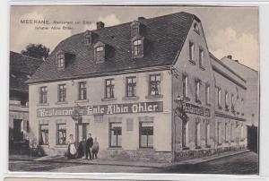 91897 Ak Meerana Restaurant zur Eule von Albin Öhler um 1910