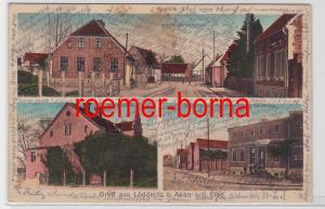 81902 Mehrbild Ak Gruß aus Lödderitz b. Aken a.d. Elbe Dorfstrasse usw. 1927