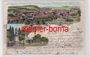 81795 Ak Lithografie Gruss aus Leimbach Siegesdenkmal, Schützenhaus 1904