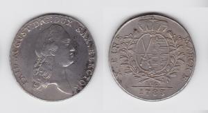 1 Taler Silber Münze Sachsen 1783 IEC (129590)