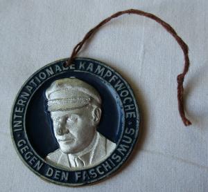 DDR Plakette internationale Kampfwoche gegen den Faschismus (135081)