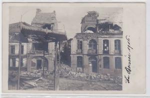 90269 Foto AK zerstörter Ort Boissei Frankreich 1916 1. Weltkrieg Westfront