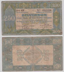 2,50 Gulden Silverbon Banknote Niederlande 1.Mai 1922 (104635)