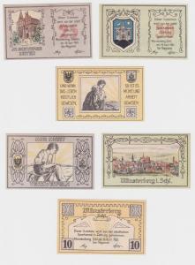 10, 25 & 50 Pfennig Banknoten Notgeld Stadt Münsterberg Ziebice 1921 (120506)