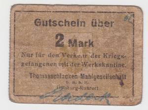 2 Mark Banknote Notgeld Duisburg Ruhrort Thomasschlacken Mahlgesell. (130205)
