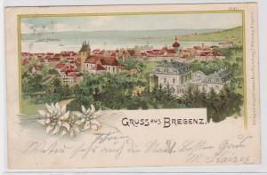 72351 AK Gruss aus Bregenz - Stadtpanorama 1905