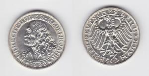 Silber Münze 3 Mark Albrecht Dürer 1928 D Jäger 332 (135375)