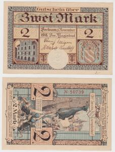 2 Mark Banknote Notgeld Stadt Beckum 1.November 1918 (130245)