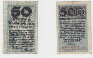 50 Pfennig Banknote Notgeld Rostocker Bank 14.November 1918 (130409)