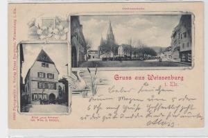 41506 AK Gruss aus Weissenburg im Elsass - Hotel