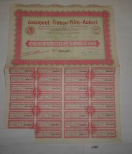 100 Franc Aktie Gaumont-Franco-Film-Aubert Paris 13. Juni 1930 (127837)