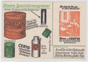 67280 Reklame AK Certus Fabrikmarke, Certil Schmelzleim, Spezialerzeugnis 1927