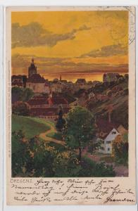 90530 AK Bregenz - Stadtpanorama mit Kirche um 1900