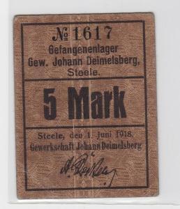 5 Mark Banknote Gefangenenlager Steele 1.Juni 1918 (130417)
