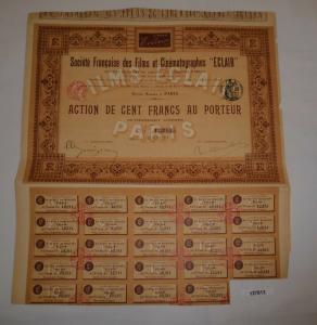 100 Francs Aktie Société française des Films et Cinématographes Eclair (127813)