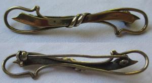 Hübsche vergoldete Brosche aus 835er Silber (123220)