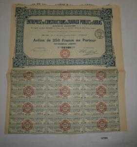 250 Francs Aktie Entreprise de Constructions & Travaux Publics d'Arras (127995)