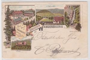 11281 AK Souvenir de Wangenbourg - Hotel, Bäder, Ruine & Schneethal 1897