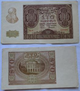 100 Zloty Banknote Polen Krakow Krakau 1.März 1940 (108377)
