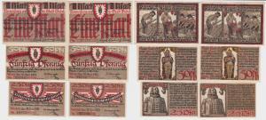 6 Banknoten Notgeld Stadt Wedel 10.6.1921 kassenfrisch (122767)