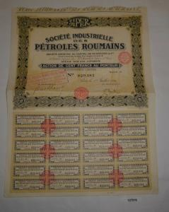 100 Francs Aktie Société Industrielle des Pétroles Roumains Paris 1926 (127519)