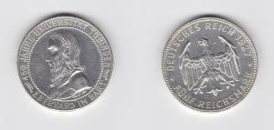 5 Mark Silber Münze Universität Tübingen 1927 vz (134990)