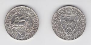 5 Mark Silber Münze 100 Jahre Bremerhaven 1927 A Jäger 326 (131586)