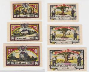 3 Banknoten Notgeld Kreis Waldbröl 1921 (135173)
