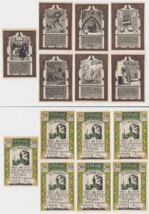 7 Banknoten Stadt Recklinghausen 1.Dezember 1921 (135230)