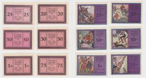 Lund Schobüll 6 Notgeldscheine o.D um 1920, 20 Pfennig - 1 Mark (135581)