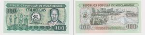 100 Metical Banknote Mosambik Moçambique 1980 bankfrisch UNC Pick 126 (129055)