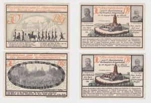 2 Banknoten Notgeld Deutscher Kriegerbund Lübeck 1921 (135359)