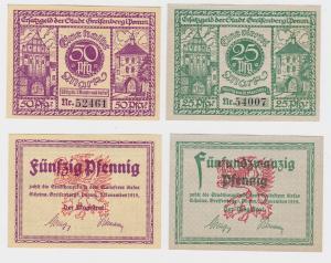 2 Banknoten Notgeld Stadt Greiffenberg in Pommern 1919 (120687)