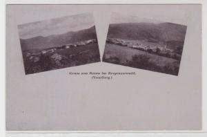 94129 AK Gruss aus Bezau im Bregenzerwald (Vorarlberg) - Ortspanorama 1921