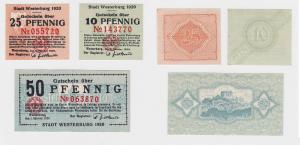 3 Banknoten Notgeld Stadt Westerburg 1920 (120689)