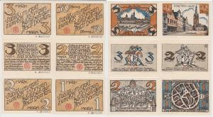 6 Banknoten Notgeld 675 Jahre Stadt Dorsten o.D. (1922) (122769)