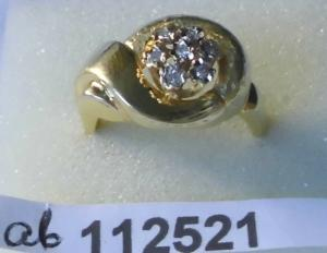 Wunderbarer Damenring 585er Gold mit 6 kleinen Diamanten (112521)